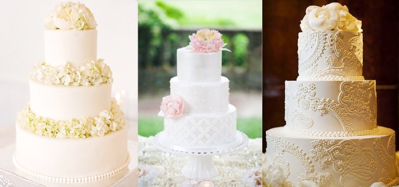 torta nuziale a cappelliera base rotonda e larga massimo di tre piani ...
