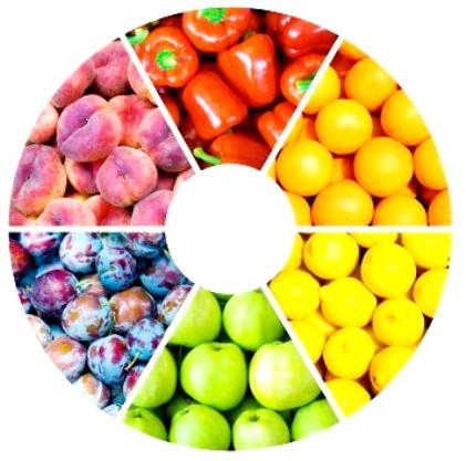 I 5 colori del benessere polis magazine - Immagine di frutta e verdura ...